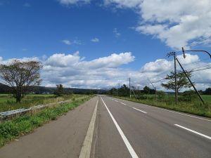 摩周湖へ向かう道