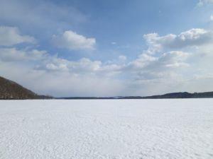 真冬の塘路湖
