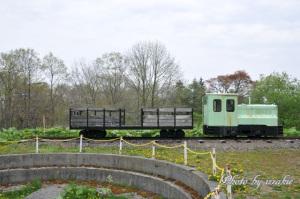内燃機関車と転車台