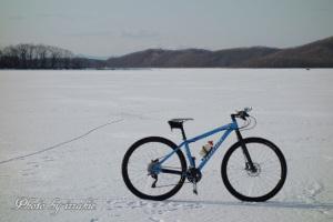 塘路湖の上