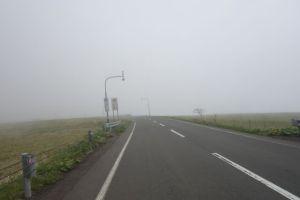 海霧で何も見えませんw