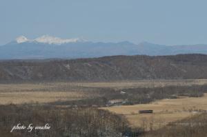 山に雪がのってナイト画にならない