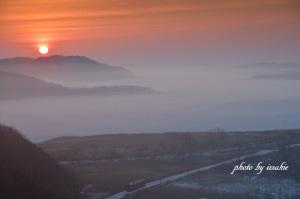 朝陽と霧とタラコでまたもや鼻血が出そうだったw