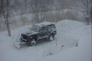 2回目の除雪終了時・・・w