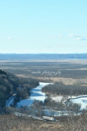 凍れる釧路川