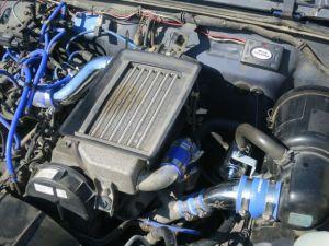 レーシーな雰囲気になったJA11のエンジンルーム